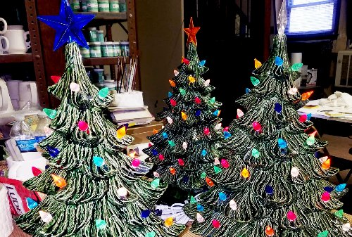 The ceramic Christmas tree is back! Why the retro holiday decoration is everywhere this year