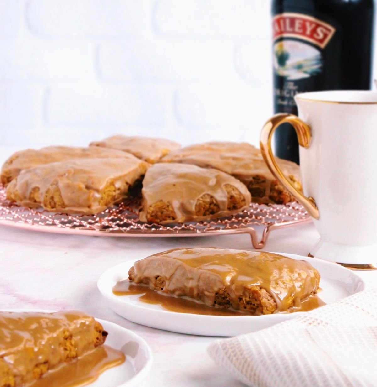 These pumpkin spiked coffee scones are the warm wake-up call you need this fall