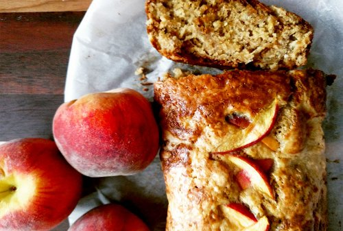 Move over, banana bread — it's time for this peachy bourbon loaf