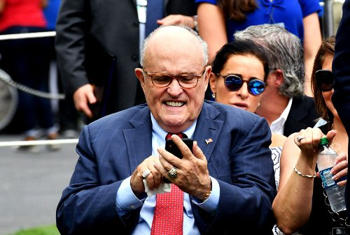 "Rudy Giuliani accidentally tweets Google search on ""dementia,"" presumably targeting Biden"