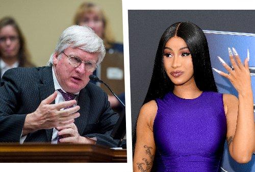 "Cardi B snaps back after GOP congressman blames her for ""the moral decline of America"""