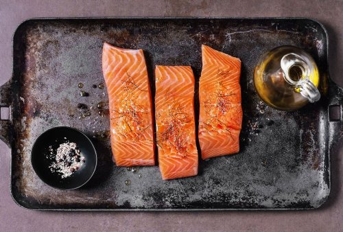 A 3-ingredient marinade for sheet pan salmon that gets dinner on the table in no time