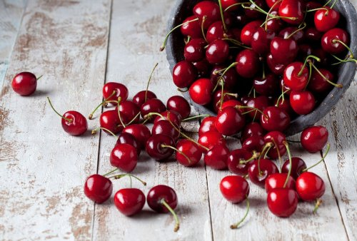 Cherries and goat cheese meet for a tangy, sweet grain salad