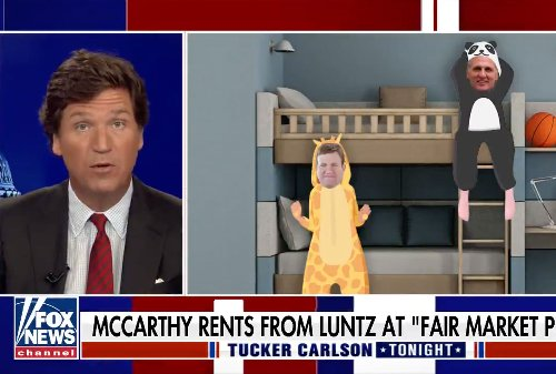 Tucker Carlson calls out Kevin McCarthy for living with GOP pollster Frank Luntz