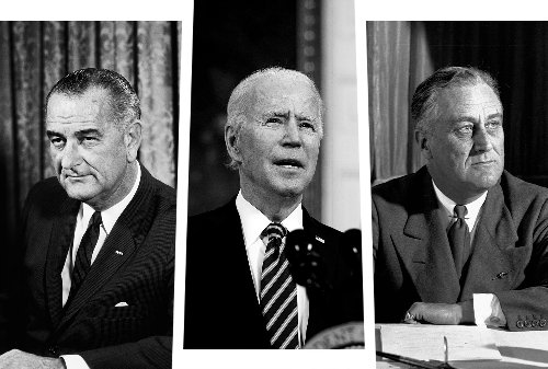 Joe Biden needs to emulate FDR and LBJ — but so far, he's not even close