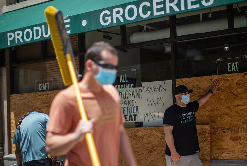 As groceries board up amid protests, food inequality worsens for communities of color