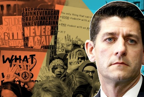 Wisconsin students march 50 miles to Paul Ryan's house for gun reform