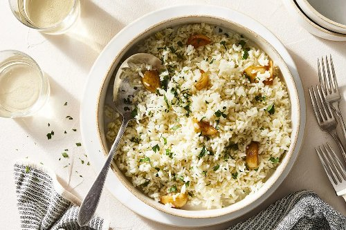 This lemony-perfect pot of rice sits cozily next to chicken, fish or roasted vegetables