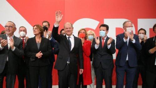SPD stärkste Kraft bei Bundestagswahl in einigen Ländern