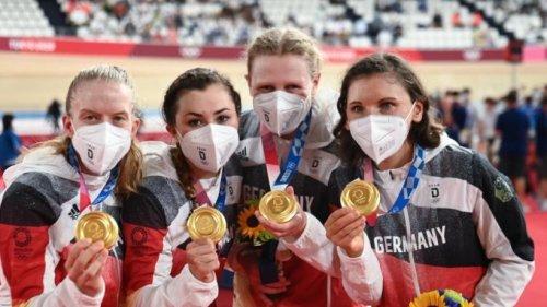 Gold und Weltrekord für Bahnrad-Vierer der Frauen