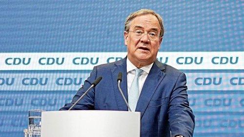CDU-Chef Armin Laschet hält in Goslar Grundsatzrede