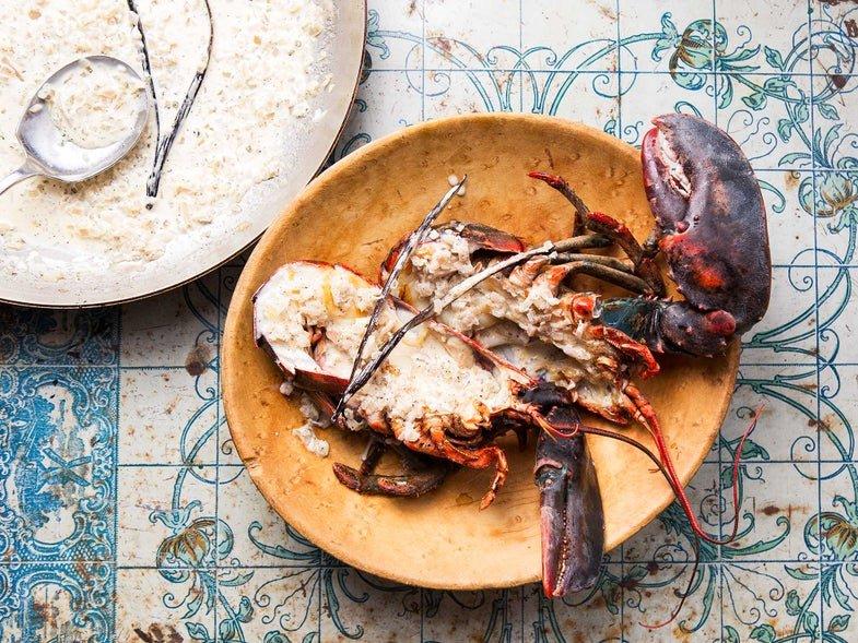 Grilled Lobsters With Vanilla Cream Sauce (Langouste à la Vanille)