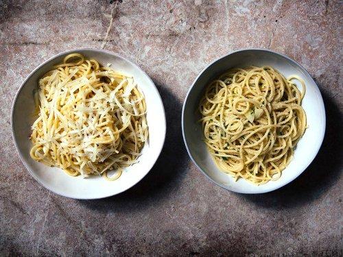 Rita Sodi's Spaghetti with Garlic and Olive Oil