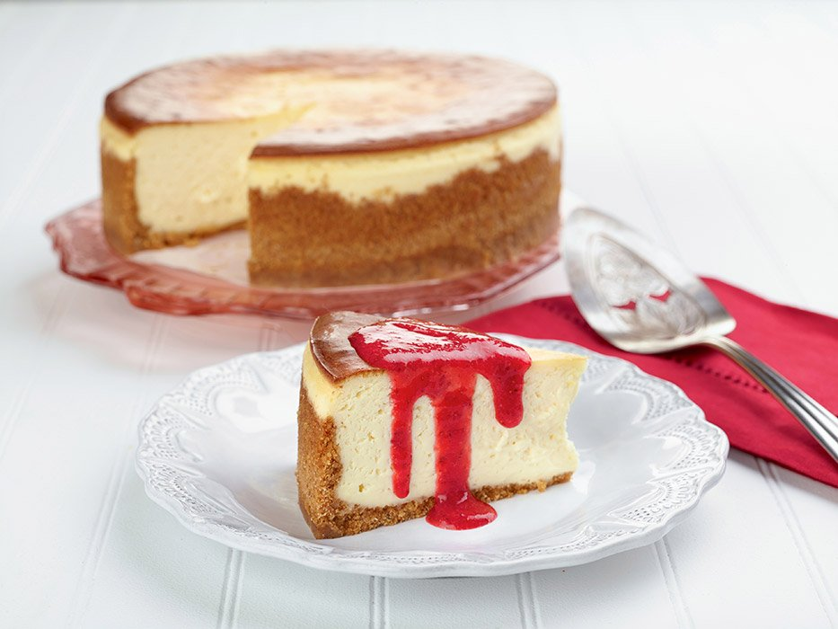 Ricotta Cheesecake with Strawberry Coulis