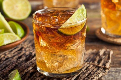 Classic Dark n' Stormy Cocktail