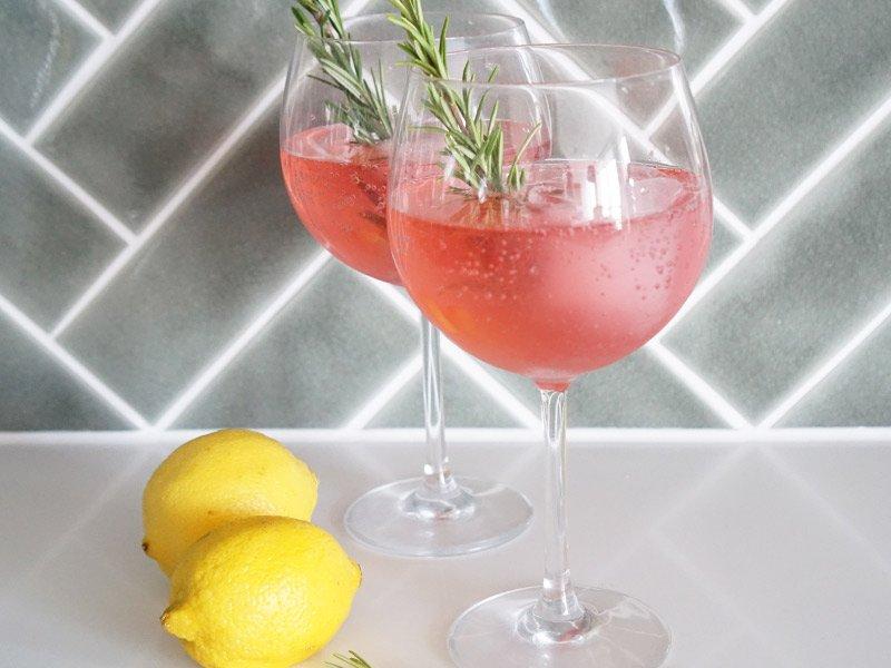 Raspberry Lemon Gin & Tonic