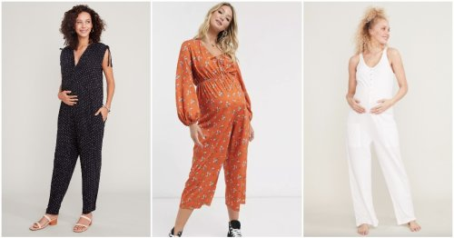 24 Adorable Maternity Jumpsuits Perfect For Your Growing Belly (& Beyond)