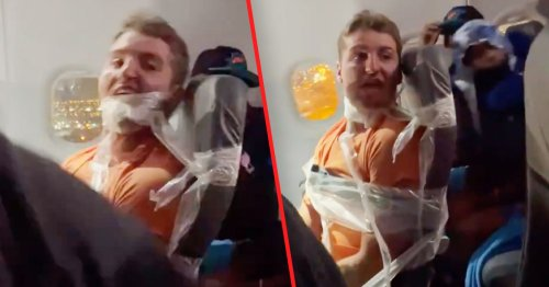 Flight Attendants Placed On Leave After Taping Passenger To His Seat