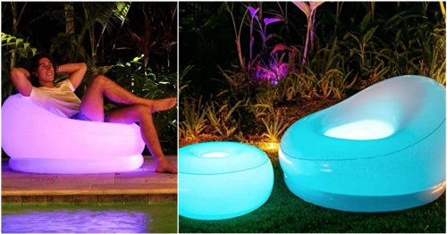 Hi, You Need This Glow-In-The-Dark Inflatable Lounge Chair — Pronto