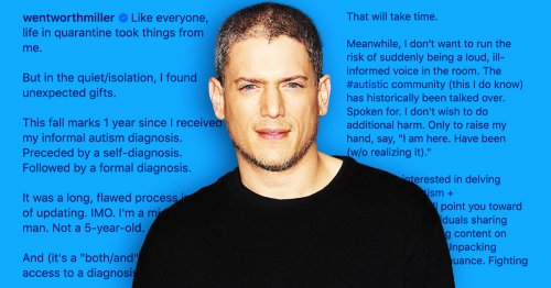 Wentworth Miller Going Public About His Autism Diagnosis Means A Lot To Me