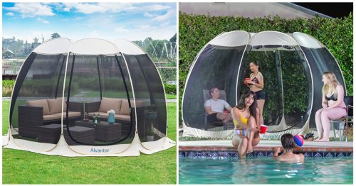 Everyone Needs This Bug-Blocking Mesh Canopy Tent To Create A Lil' Oasis