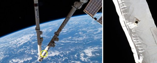 Space Debris Has Hit And Damaged The International Space Station
