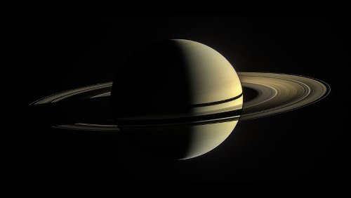 Saturn has a fuzzy core, spread over more than half the planet's diameter