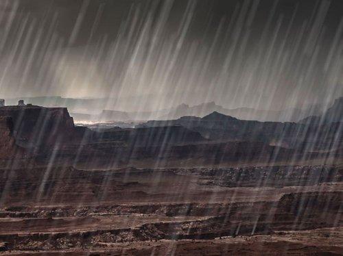 A quoi ressemble la pluie sur les autres astres du système solaire ?