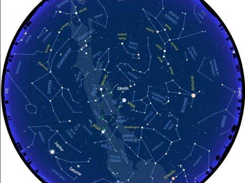 Carte du ciel d'août 2021 : ne manquez pas les Perséides, la plus belle nuit d'étoiles filantes de l'année