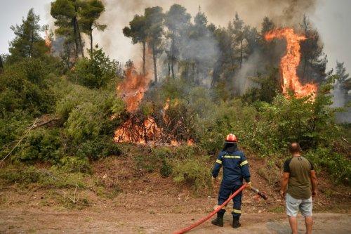 Le feu menace une centrale thermique en Turquie et fait rage en Grèce