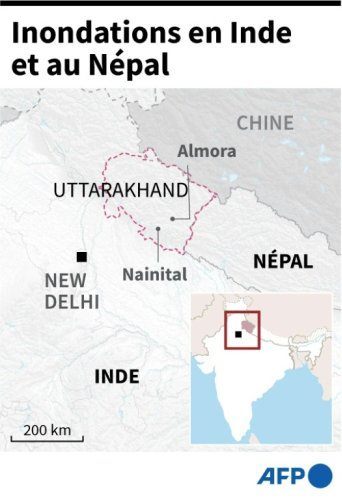 Près de 200 morts en Inde et au Népal dans des inondations et glissements de terrain - Sciences et Avenir