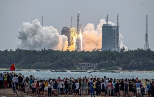 Falling Uncontrolled from Space, Giant Chinese Rocket Highlights Risk of Orbital Debris