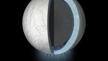 Encased in an Icy Shell, the Ocean on Saturn's Moon Enceladus Appears to Be Churning