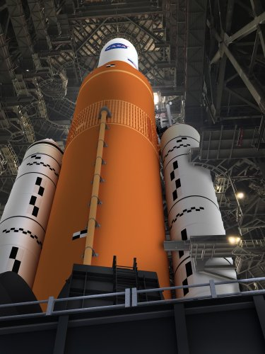 NASA: Progress on Giant SLS Moon Rocket, Close Encounter With Ganymede, and a Ring of Fire Eclipse