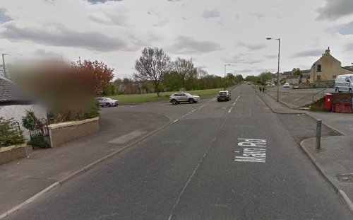 Two men have been taken to hospital following a crash involving two cars on Main road, Maddiston