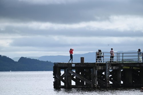 Emergency services are searching the water at Loch Lomond following concern for a person