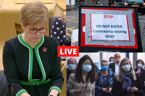 Coronavirus in Scotland LIVE: First Minister Nicola Sturgeon expected to confirm further easing of lockdown