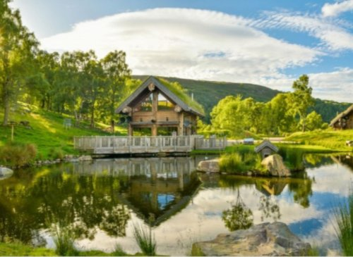 Stay in a Highland log cabin that might be the ultimate in rustic luxury