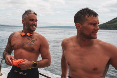 Brothers swim across notorious Corryvreckan whirlpool with whisky strapped to their backs