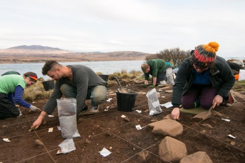 Camp used by 'Ice Age explorers' 12,000 years ago emerges on Scottish island