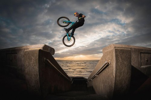 Danny MacAskill heads to Blackpool Beach and an abandoned quarry for his new film