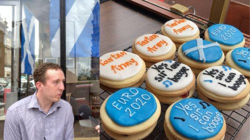 Watch: Glasgow cafe launches Euro 2020 empire biscuits to support Scotland team