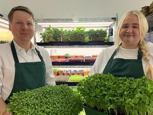 The Micro Empire has brought its tiny crops, from micro coriander to pea shoots, to Edinburgh's Farmers Market