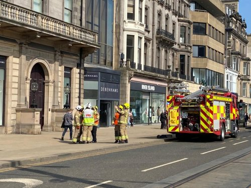 More than 30 firefighters called to tackle large fire at Edinburgh department store