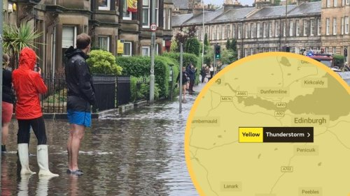 Thunderstorm yellow warnings issued across Scotland including Edinburgh and the Lothians