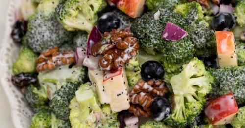 Sweet and Savory Broccoli Apple Salad Recipe