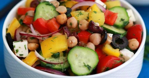 Fast and Fresh Greek Chickpea Salad Recipe