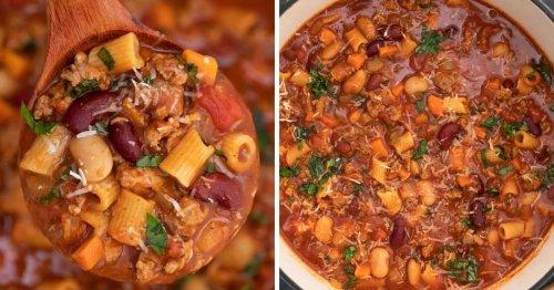 Copycat Pasta e Fagioli Soup Dutch Oven Recipe