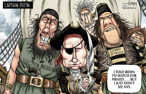 Putin not likely to put aside his pirate ways