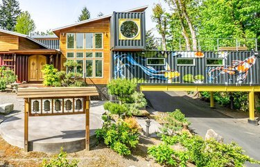Colorful Washington home built from 11 shipping containers hits market for $2 million